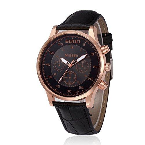 Big Promotion ! Paymenow Men Classic Watch Luxury Chronograph Watches Quartz Business Wrist Watch for Men Boys (Black)-【以实际重量为准】
