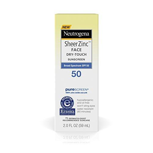 Neutrogena Sheer Zinc Face Dry-Touch Sunscreen Broad Spectrum SPF 50, 2 Fl. Oz.