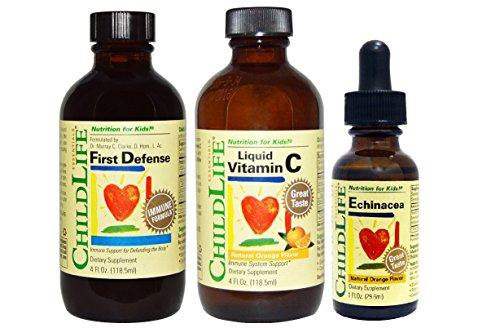 Childlife 3 Pack Immune Support: First Defense, Vitamin C, Echinacea